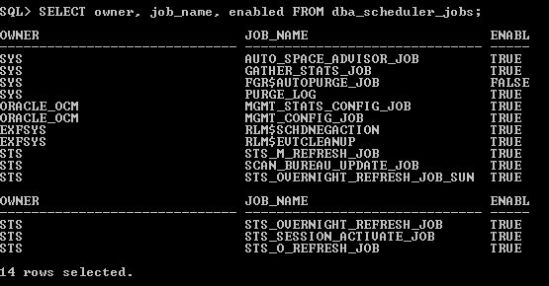 Disabling and Enabling Oracle Scheduled Jobs in sqlplus when
