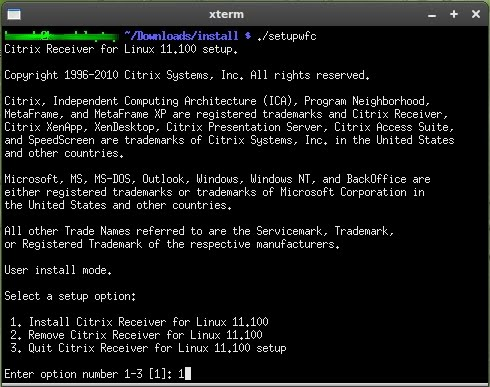 Installing the Citrix client on Linux – certify your client