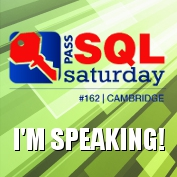 SQLSaturday #162 Cambridge