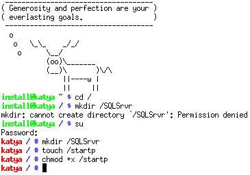 Don't forget to edit the startp file and copy the SQL assembly!