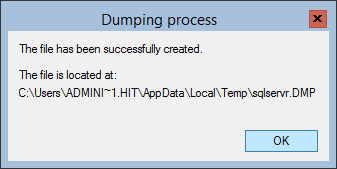 dumped process